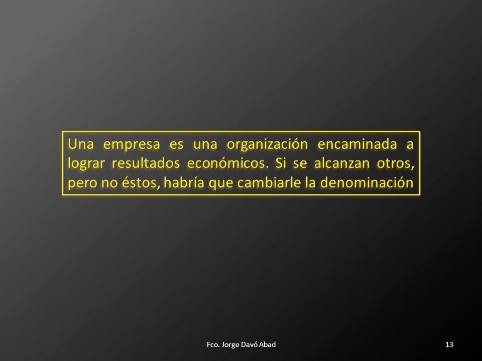 13 Una empresa es una organización encaminada a lograr resultados económicos.