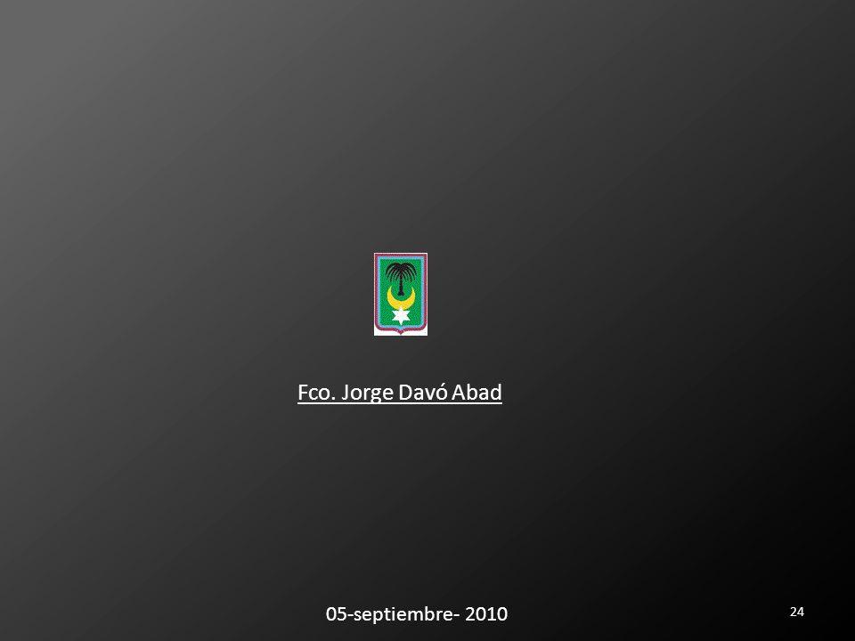 24 05-septiembre- 2010 Fco. Jorge Davó Abad