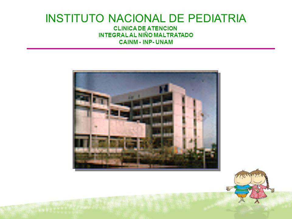 INSTITUTO NACIONAL DE PEDIATRIA CLINICA DE ATENCION INTEGRAL AL NIÑO MALTRATADO CAINM - INP- UNAM