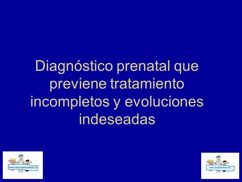 Diagnóstico prenatal que previene tratamiento incompletos y evoluciones indeseadas