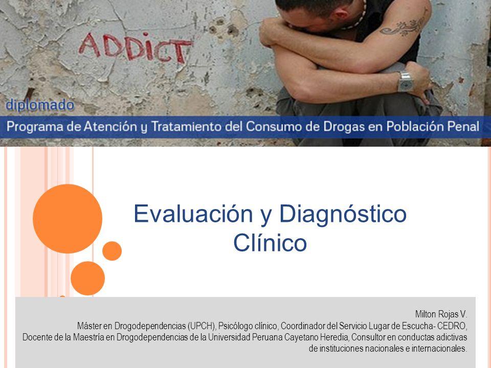 Milton Rojas V. Máster en Drogodependencias (UPCH), Psicólogo clínico, Coordinador del Servicio Lugar de Escucha- CEDRO, Docente de la Maestría en Dro