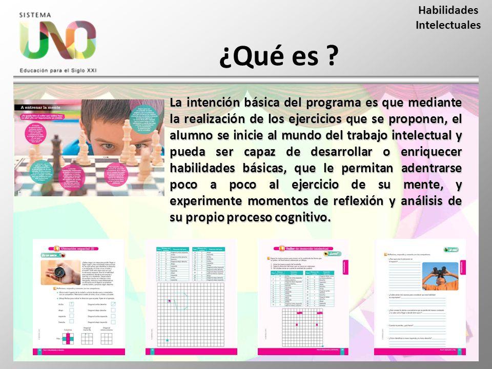 ¿Qué es ? La intención básica del programa es que mediante la realización de los ejercicios que se proponen, el alumno se inicie al mundo del trabajo