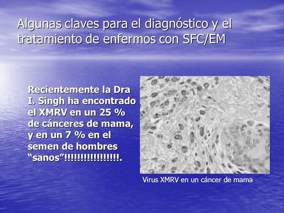 Algunas claves para el diagnóstico y el tratamiento de enfermos con SFC/EM Recientemente la Dra I.
