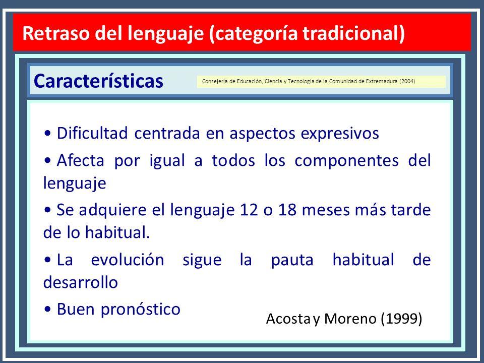 Clasificación Rapin y Allen (1996) (En Gortázar, 2006, p.7) Diagnóstico TEL Trastornos Específicos del Lenguaje 1.