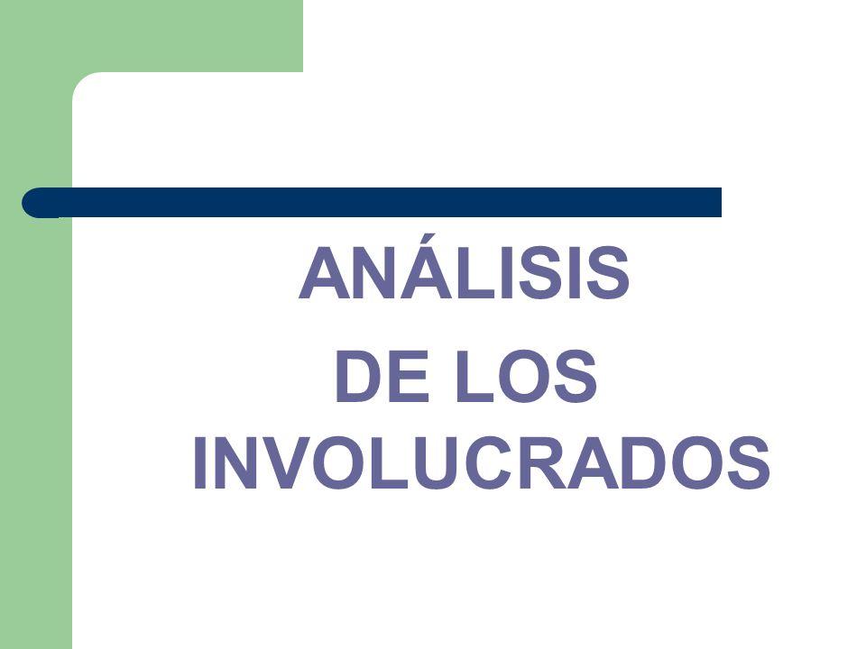 ANÁLISIS DE LOS INVOLUCRADOS