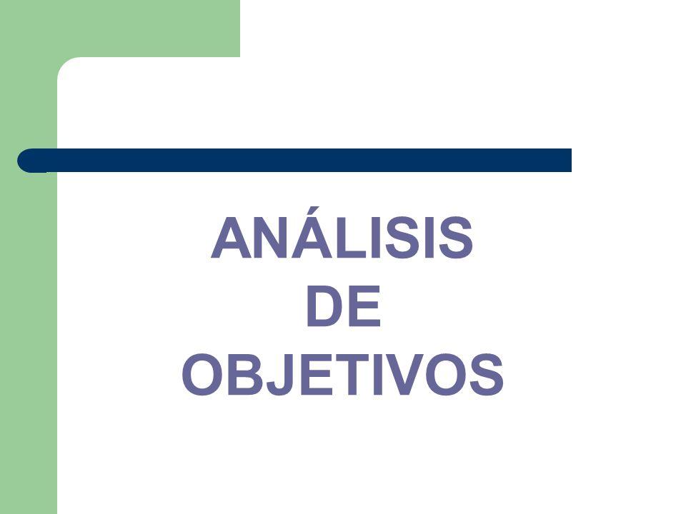 ANÁLISIS DE OBJETIVOS