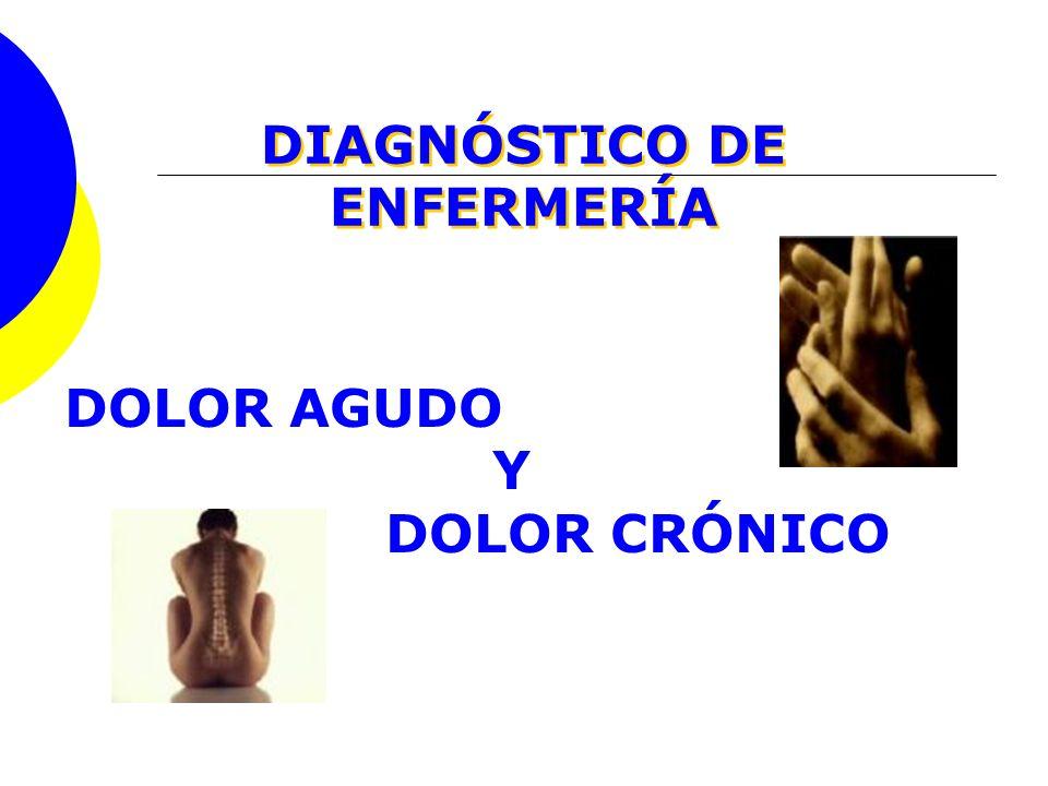 DIAGNÓSTICO DE ENFERMERÍA DOLOR AGUDO Y DOLOR CRÓNICO