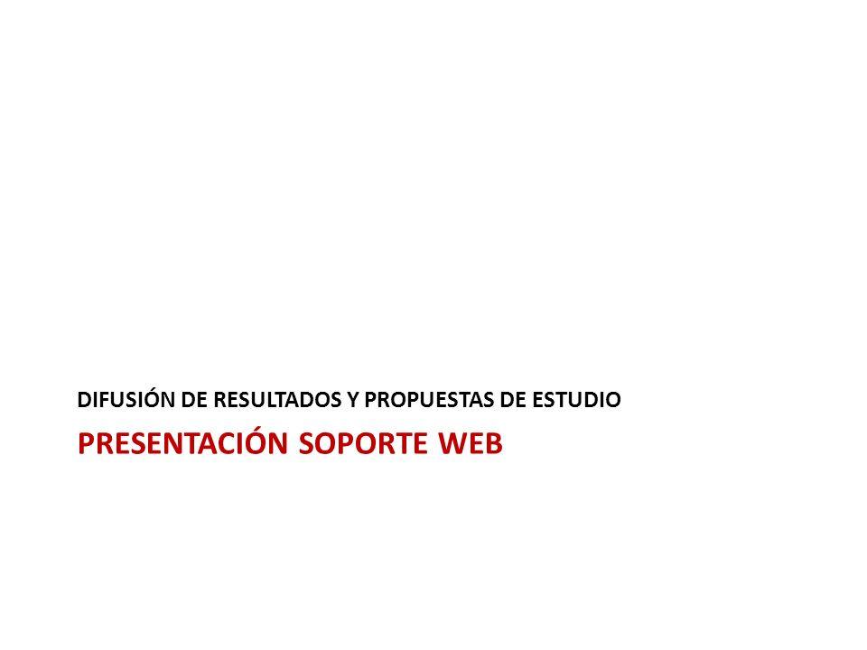 PRESENTACIÓN SOPORTE WEB DIFUSIÓN DE RESULTADOS Y PROPUESTAS DE ESTUDIO