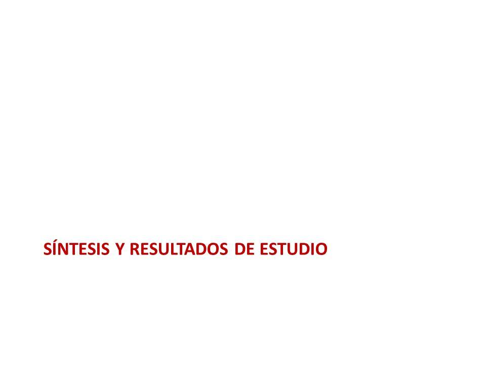 SÍNTESIS Y RESULTADOS DE ESTUDIO