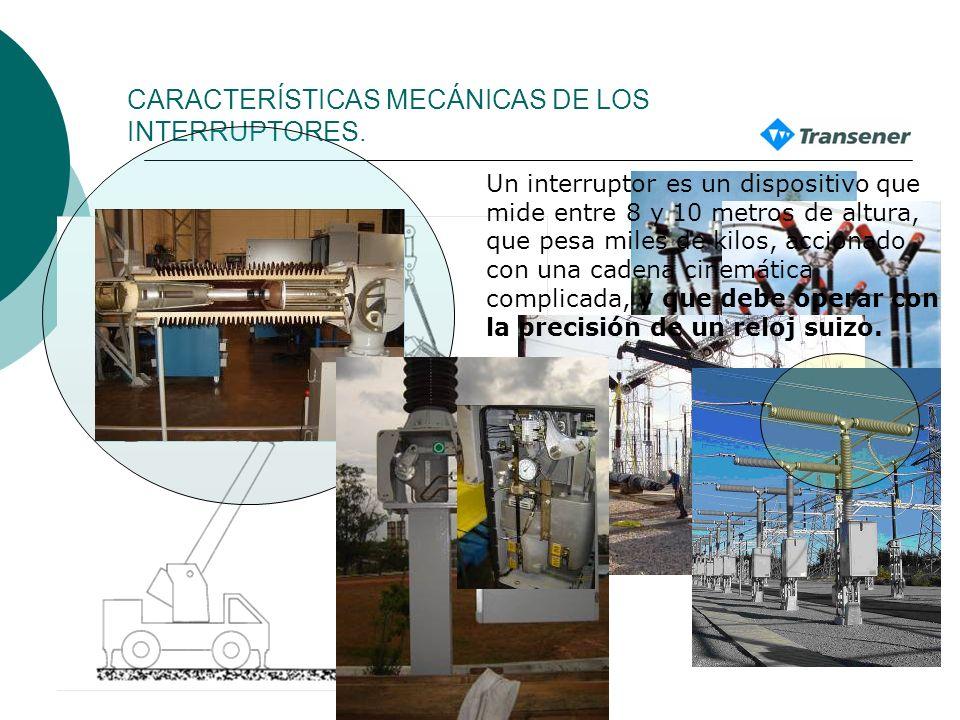 FUNCIÓN DEL INTERRUPTOR Eslabón fundamental en la transmisión de energía 1. Abrir circuitos en vacío. 2. Abrir circuitos con carga nominal 3. Abrir ci
