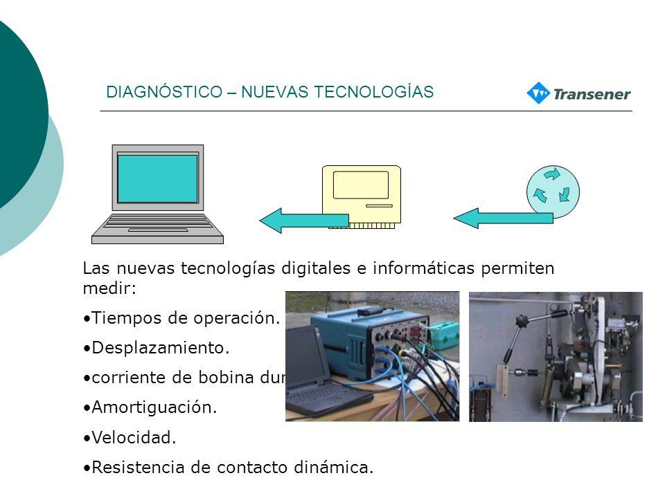 DIAGNÓSTICO – NUEVAS TECNOLOGÍAS Las nuevas tecnologías digitales e informáticas permiten medir: Tiempos de operación.