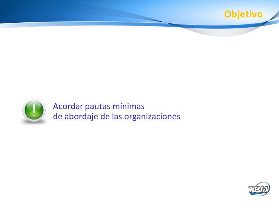 Acordar pautas mínimas de abordaje de las organizaciones Objetivo