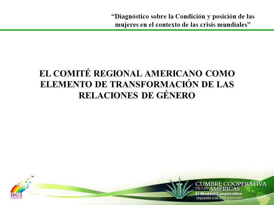 EL COMITÉ REGIONAL AMERICANO COMO ELEMENTO DE TRANSFORMACIÓN DE LAS RELACIONES DE GÉNERO Diagnóstico sobre la Condición y posición de las mujeres en e