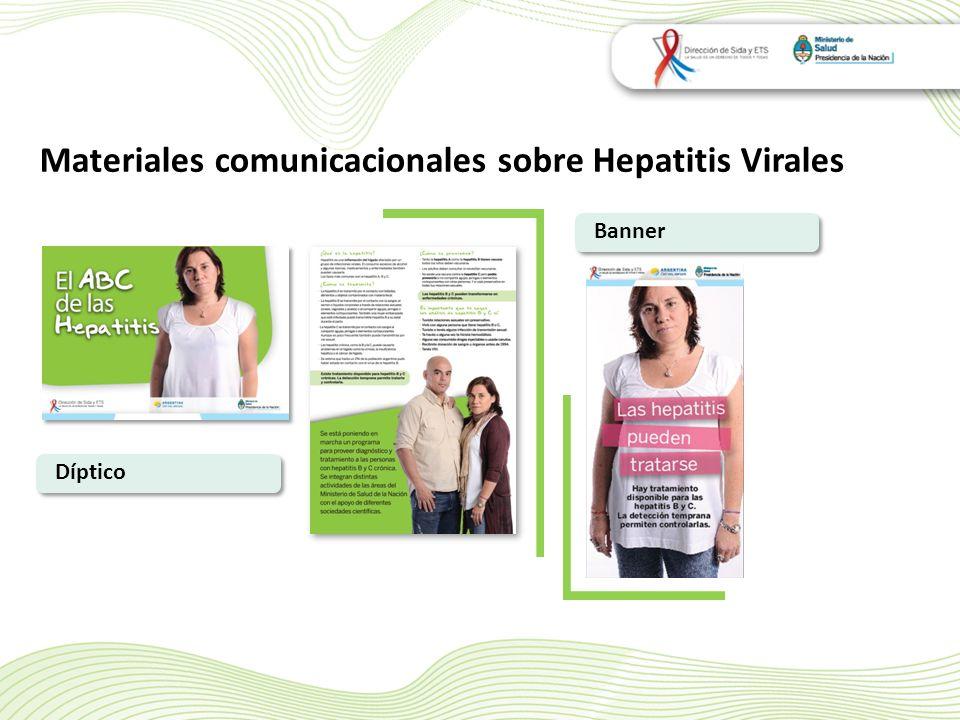 Materiales comunicacionales sobre Hepatitis Virales Banner Díptico