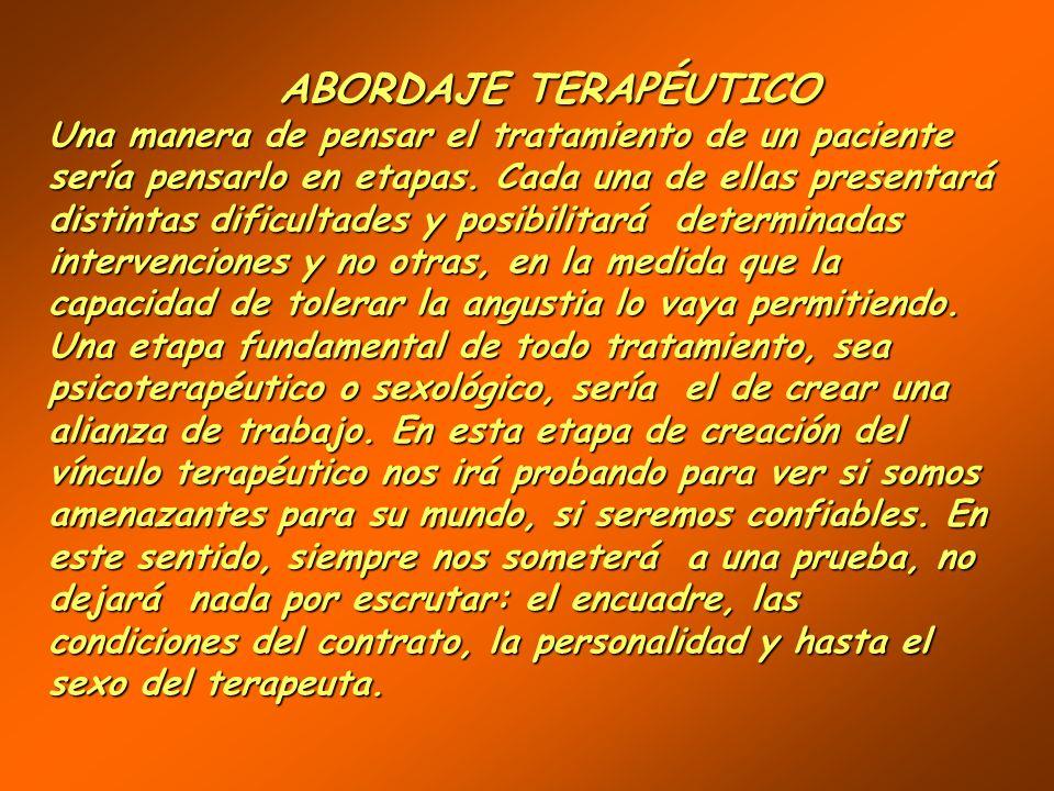 TERAPIAS SEXUALES TERAPIAS SEXUALES BREVESBREVES BAJA FRECUENCIA (1 X SEMANA )BAJA FRECUENCIA (1 X SEMANA ) FOCALIZADASFOCALIZADAS DE RESOLUCIÓN SINTO