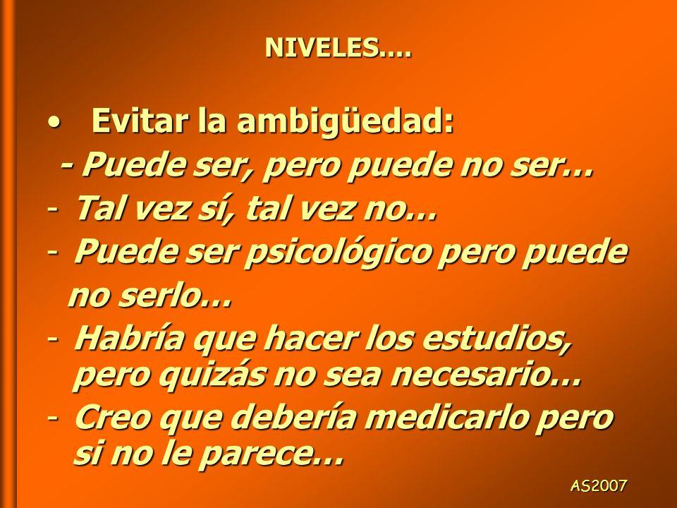 NIVELES....NIVELES....