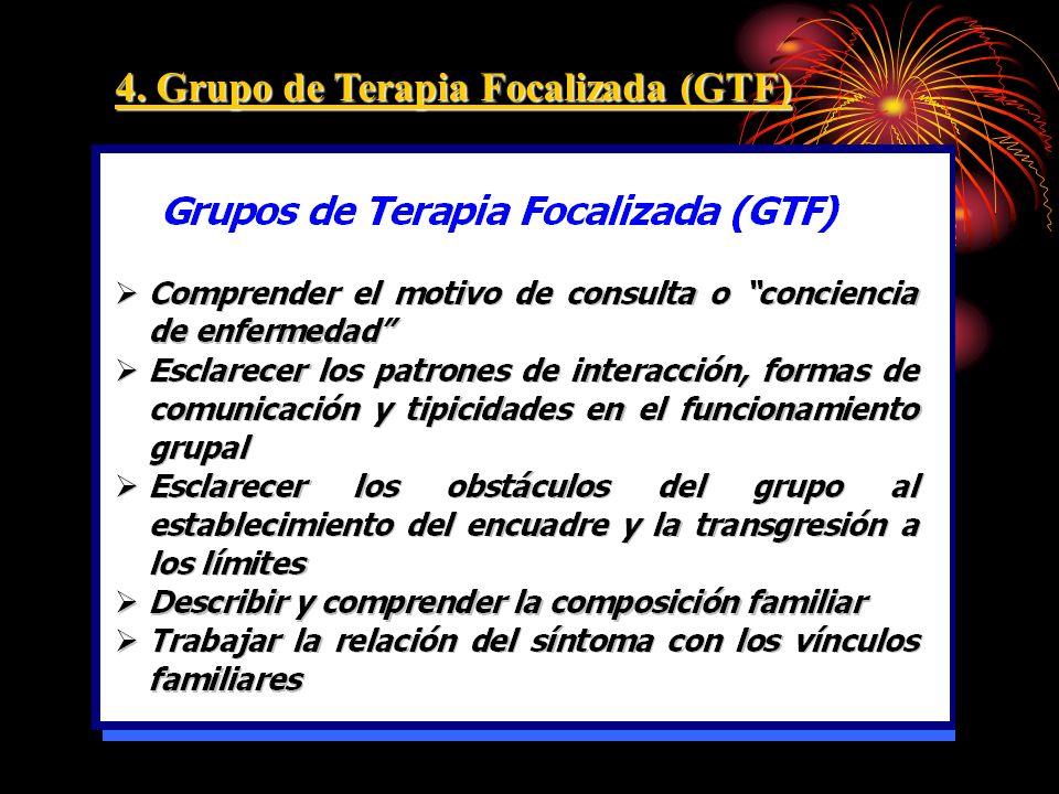 4. Grupo de Terapia Focalizada (GTF)