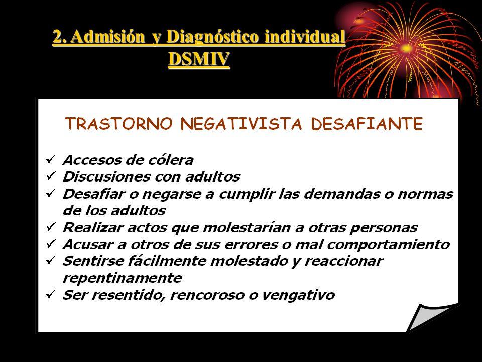 2. Admisión y Diagnóstico individual DSMIV