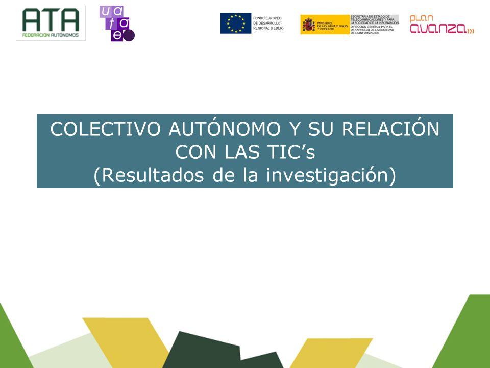 COLECTIVO AUTÓNOMO Y SU RELACIÓN CON LAS TICs (Resultados de la investigación)
