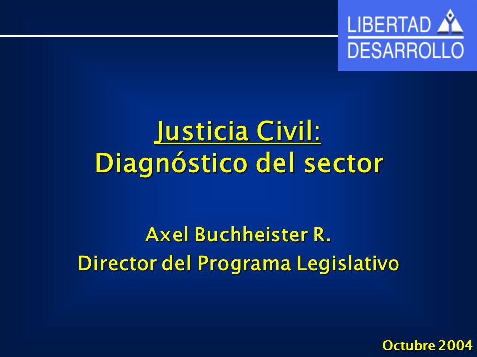Justicia Civil: Diagnóstico del sector Axel Buchheister R.
