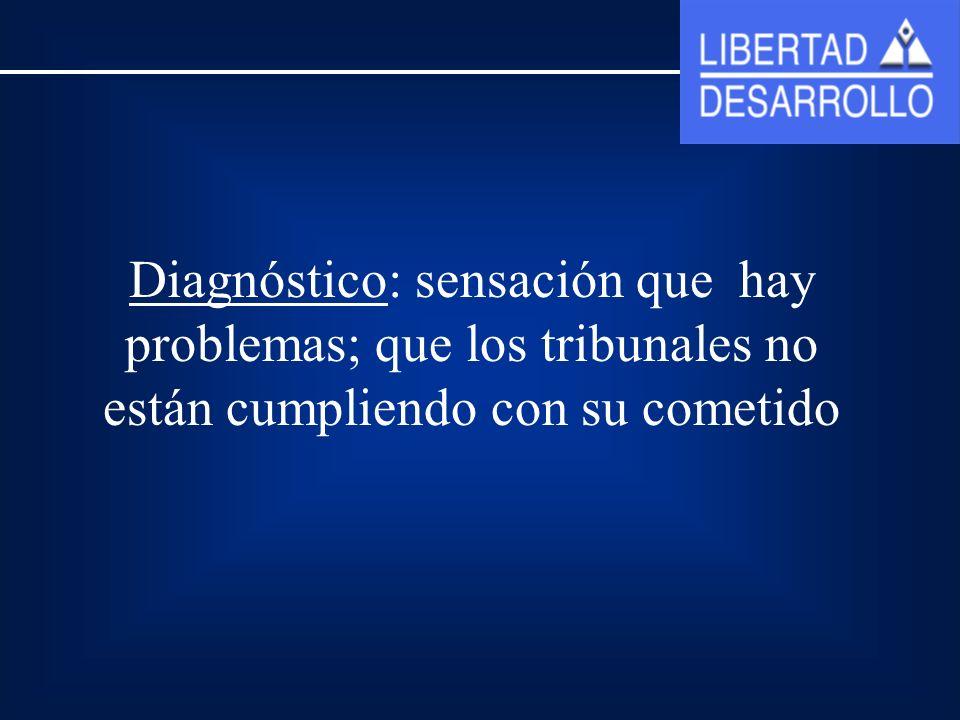Diagnóstico: sensación que hay problemas; que los tribunales no están cumpliendo con su cometido