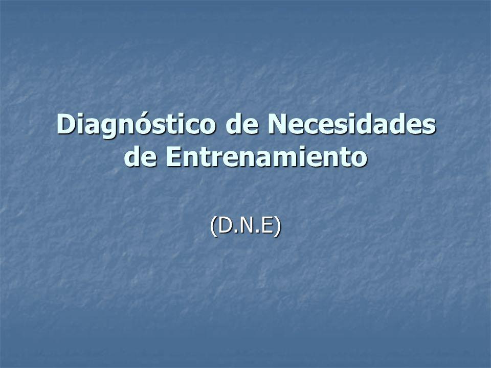 Diagnóstico de Necesidades de Entrenamiento (D.N.E)