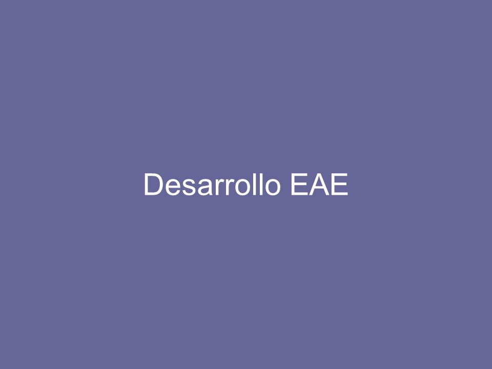 Desarrollo EAE