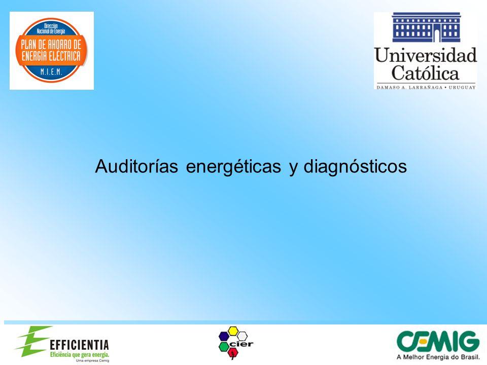 Elaboración de Planes Energéticos para Organismos Públicos Diagnóstico Energetico Es necesario conocer: Los usos de la energía en la instalación.