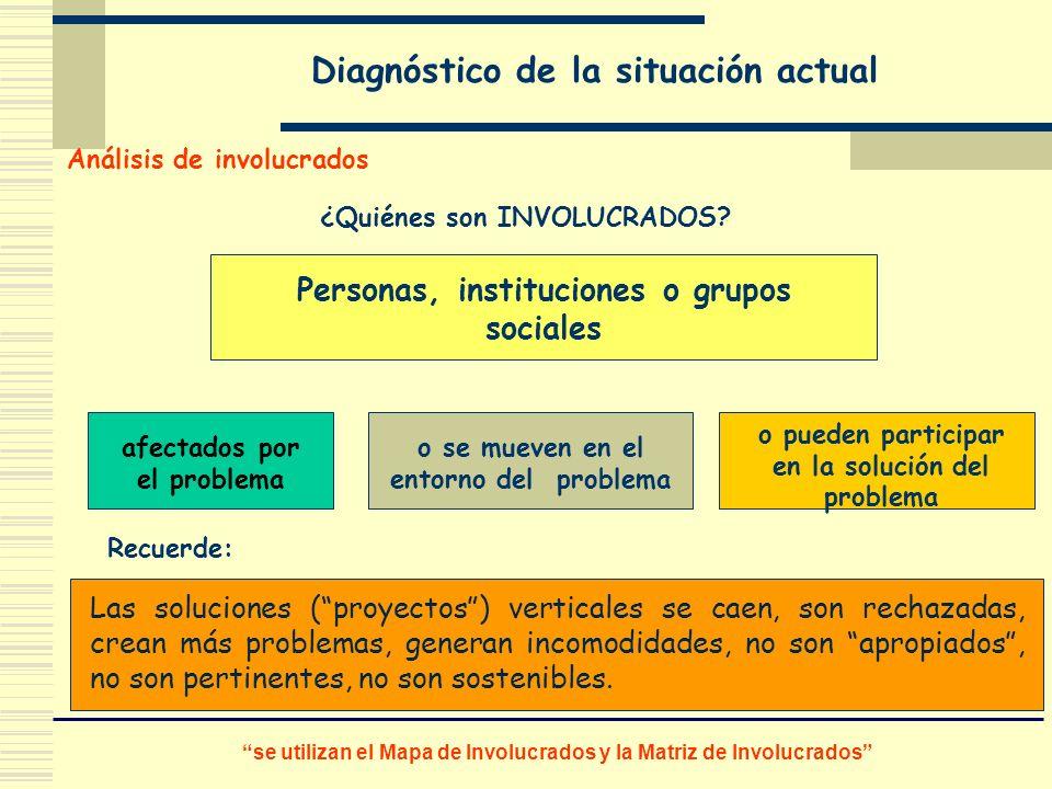 Las soluciones (proyectos) verticales se caen, son rechazadas, crean más problemas, generan incomodidades, no son apropiados, no son pertinentes, no s