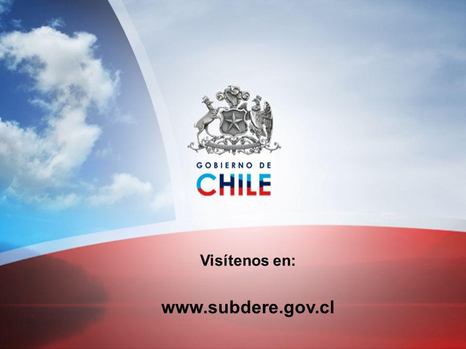 Visítenos en: www.subdere.gov.cl