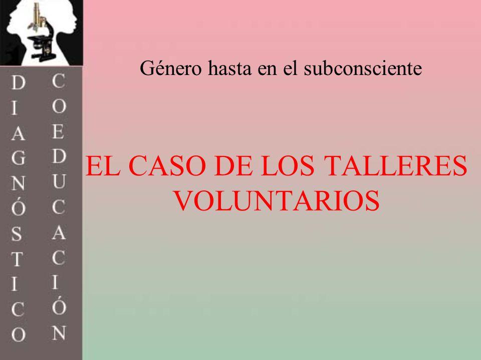 EL CASO DE LOS TALLERES VOLUNTARIOS Género hasta en el subconsciente