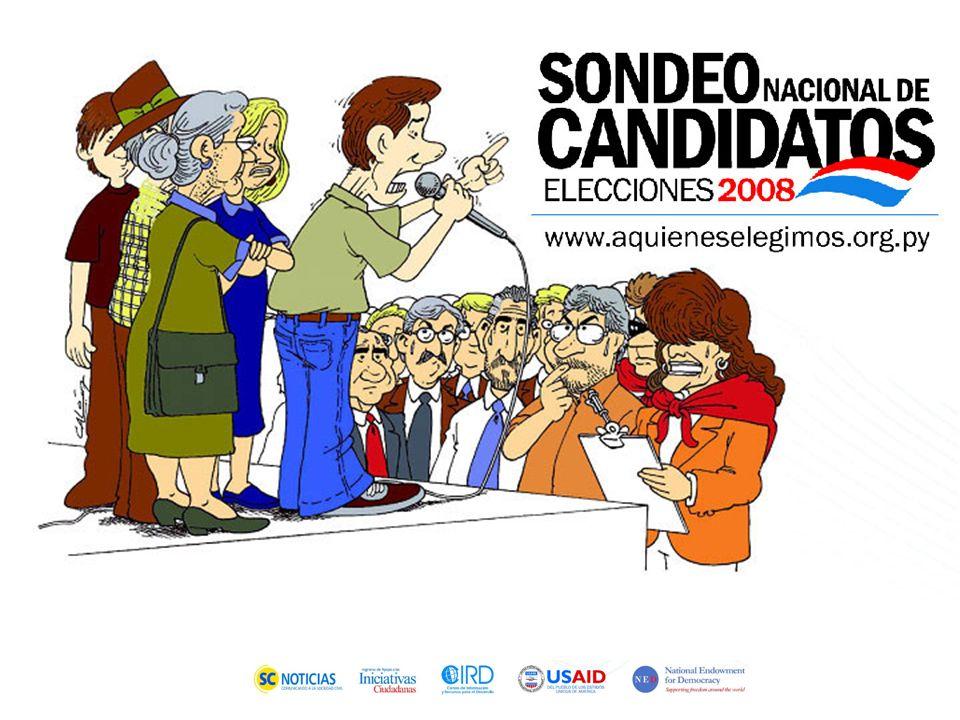 Transparentar el proceso electoral democrático a través de la participación decisiva de la sociedad civil en Paraguay Proyecto A quiénes elegimos 2008