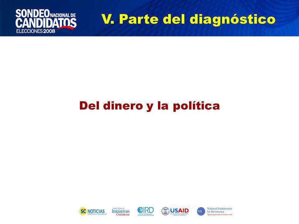 Del dinero y la política V. Parte del diagnóstico