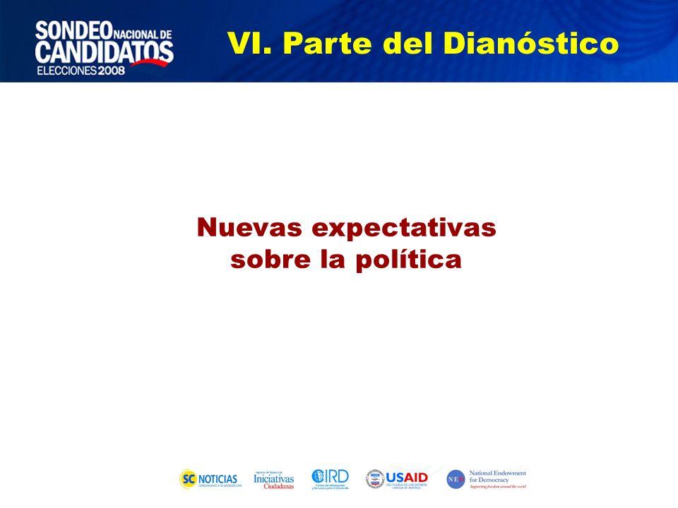 Nuevas expectativas sobre la política VI. Parte del Dianóstico