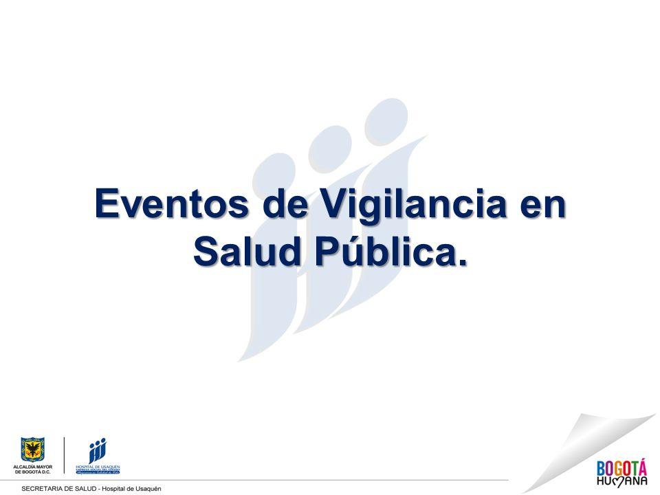 Eventos de Vigilancia en Salud Pública.