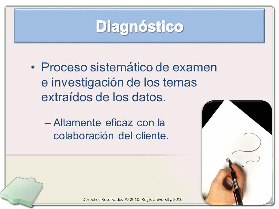 Proceso sistemático de examen e investigación de los temas extraídos de los datos.