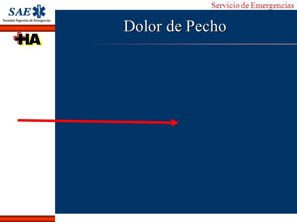 Servicio de Emergencias Alberto José Machado IntroducciónNomencEmergFXTriageCasoDiagnósticoTiempo Dolor de Pecho