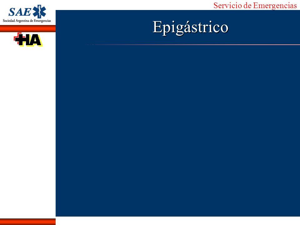 Servicio de Emergencias Alberto José Machado IntroducciónNomencEmergFXTriageCasoDiagnósticoTiempoEpigástrico