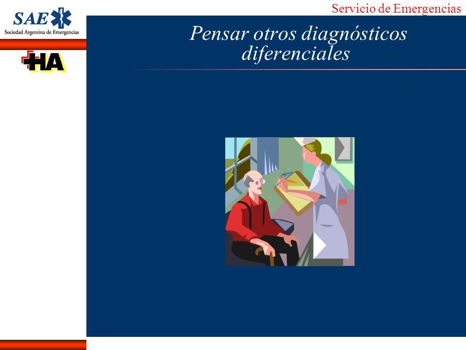 Servicio de Emergencias Alberto José Machado IntroducciónNomencEmergFXTriageCasoDiagnósticoTiempo Pensar otros diagnósticos diferenciales