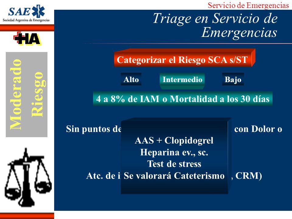 Servicio de Emergencias Alberto José Machado IntroducciónNomencEmergFXTriageCasoDiagnósticoTiempo Alto Intermedio Bajo Sin puntos de Alto Riesgo pero