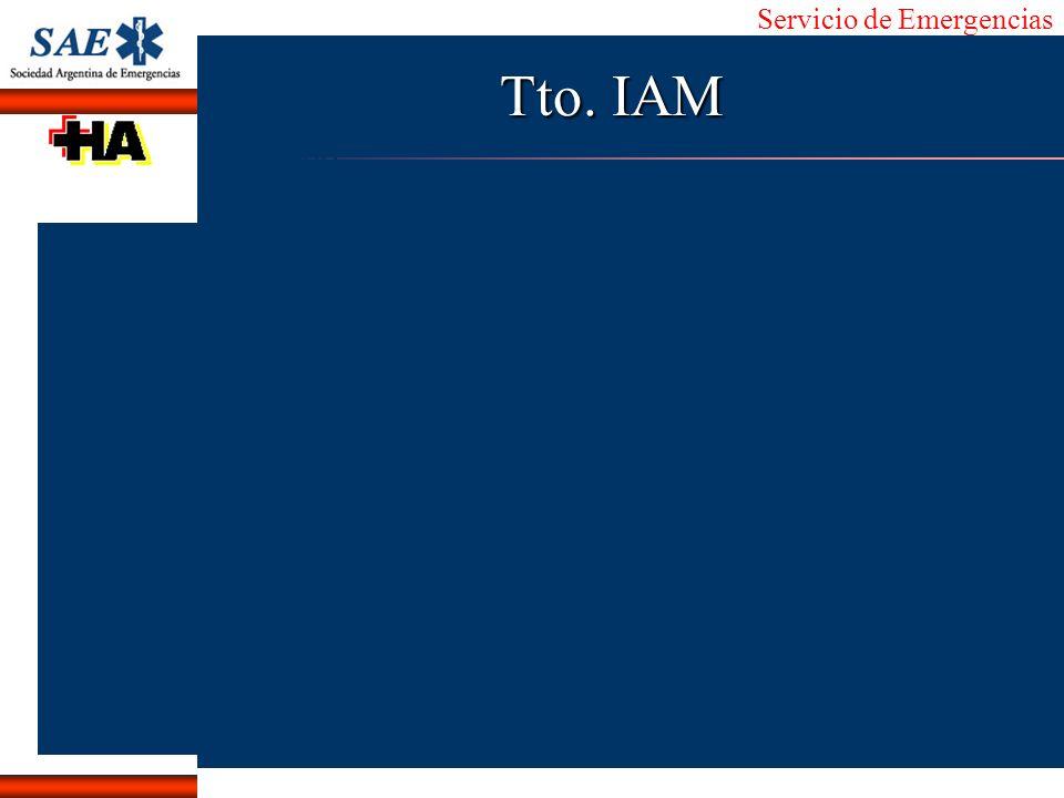 Servicio de Emergencias Alberto José Machado IntroducciónNomencEmergFXTriageCasoDiagnósticoTiempo Tto. IAM
