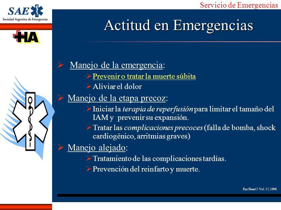 Servicio de Emergencias Alberto José Machado IntroducciónNomencEmergFXTriageCasoDiagnósticoTiempo Actitud en Emergencias Manejo de la emergencia: Prev