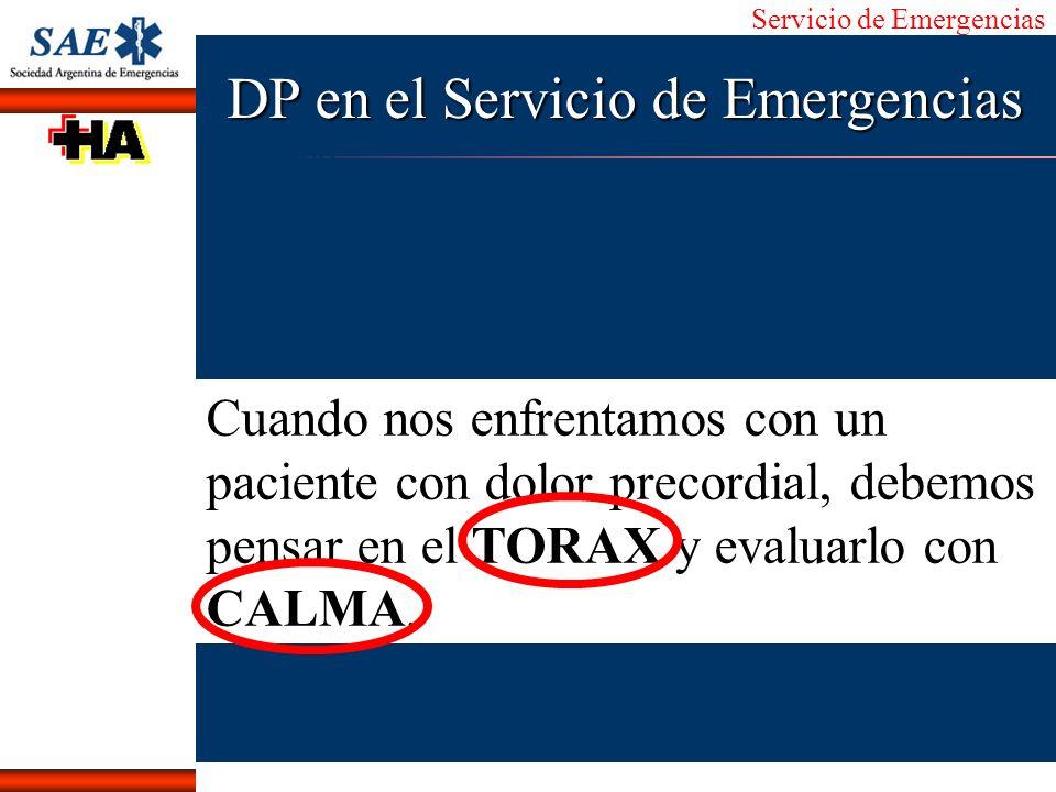Servicio de Emergencias Alberto José Machado IntroducciónNomencEmergFXTriageCasoDiagnósticoTiempo Cuando nos enfrentamos con un paciente con dolor pre