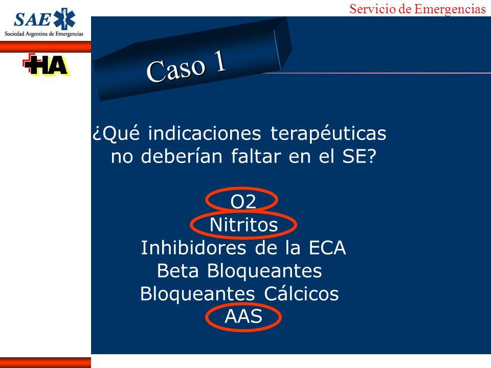 Servicio de Emergencias Alberto José Machado IntroducciónNomencEmergFXTriageCasoDiagnósticoTiempo ¿Qué indicaciones terapéuticas no deberían faltar en
