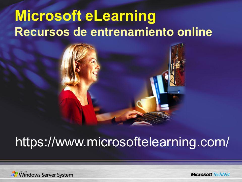 Microsoft eLearning Recursos de entrenamiento online https://www.microsoftelearning.com/
