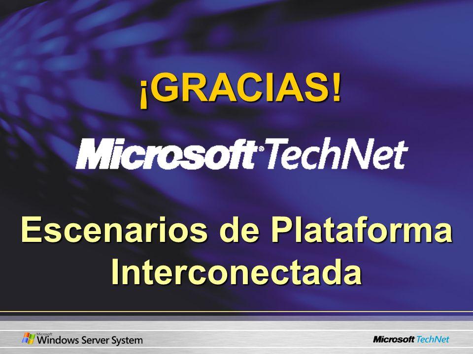 Escenarios de Plataforma Interconectada ¡GRACIAS!