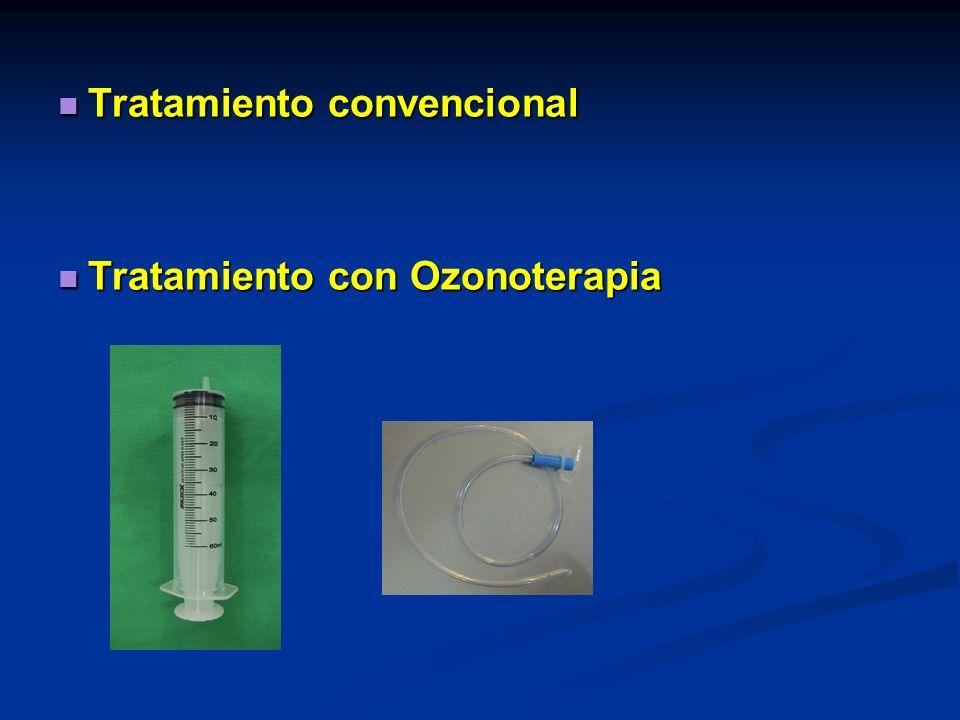 Tratamiento convencional Tratamiento convencional Tratamiento con Ozonoterapia Tratamiento con Ozonoterapia