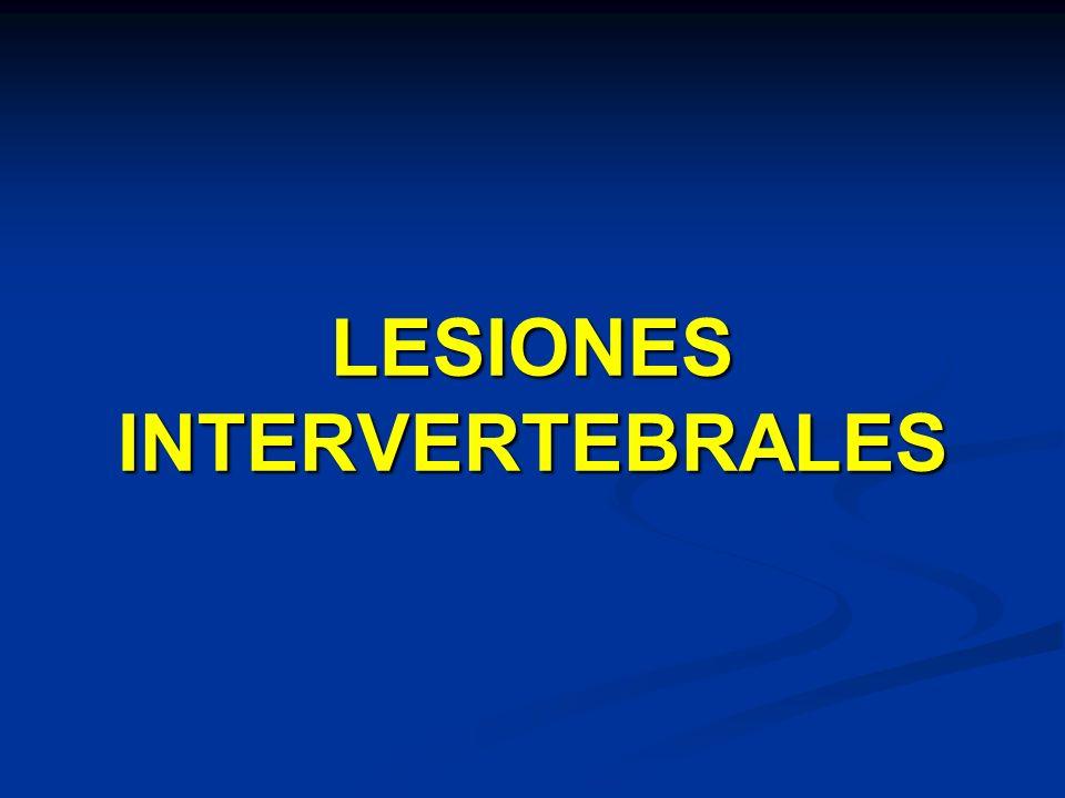 LESIONES INTERVERTEBRALES