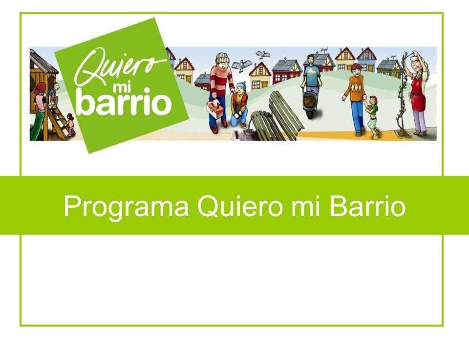 Programa Quiero mi Barrio