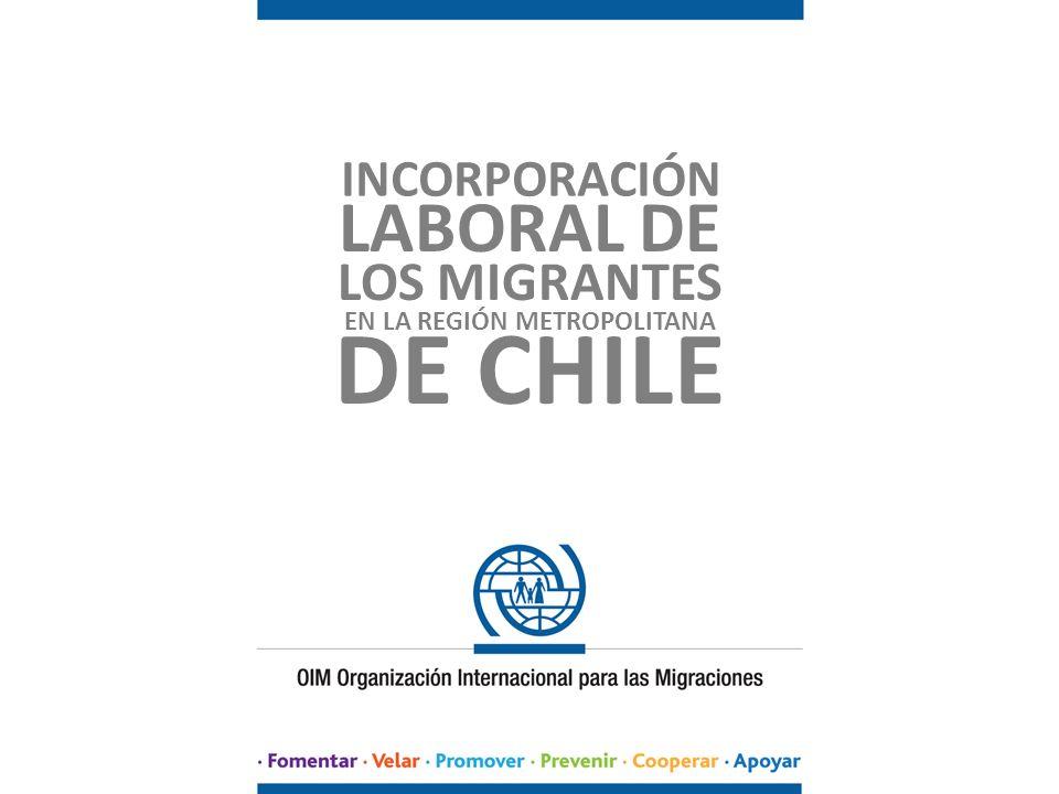 INCORPORACIÓN LABORAL DE LOS MIGRANTES EN LA REGIÓN METROPOLITANA DE CHILE